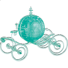 3D Crystal Puzzle Deluxe - Cinderella's Carriage (Aqua) - 3D Crystal Puzzles