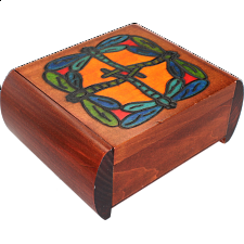 Dragonfly Secret Box - Brown -