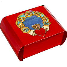 Claddagh Secret Box - Red - Puzzle Boxes / Trick Boxes