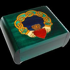 Claddagh Secret Box - Green -