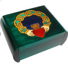 Claddagh Secret Box - Green - Puzzle Boxes / Trick Boxes