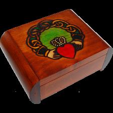 Claddagh Secret Box - Brown -