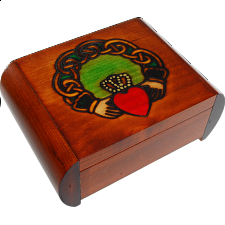 Claddagh Secret Box - Brown - Puzzle Boxes / Trick Boxes