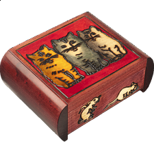 Three Cats - Secret Box - Wood Puzzles