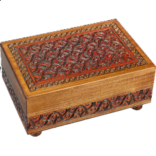 Waved Motif Full - Secret Box - Puzzle Boxes / Trick Boxes