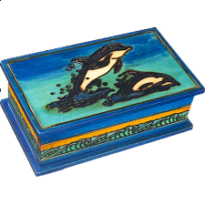 Dolphin - Secret Box - Wooden Puzzle Boxes