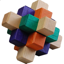 Kumiki Puzzle - 9 Piece - Other Wood Puzzles