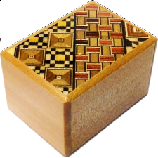 2 Sun 10 Step Koyosegi / Natural - Japanese Puzzle Boxes