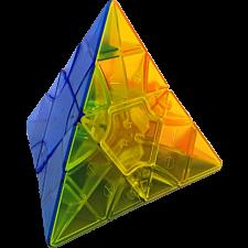 2x2x2 Transform Pyraminx Standard - Clear Stickerless -