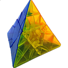 2x2x2 Transform Pyraminx Standard - Clear Stickerless - Other Rotational Puzzles