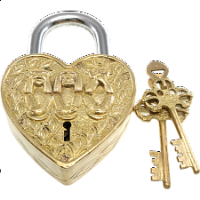 Heart Trick Padlock - 3 Monkeys - Puzzle Locks