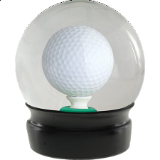 Golf Ball Water Globe - Games & Toys