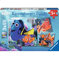 Finding Dory - 3 x 49 piece puzzles - New Items