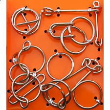 Hanayama Wire Puzzle Set - Orange -