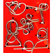 Hanayama Wire Puzzle Set - Red -