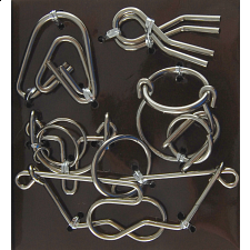 Hanayama Wire Puzzle Set - Brown -