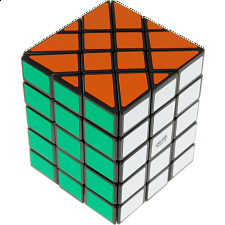 4x4x5 Fisher Cuboid (center-shifted) - Black Body - Other Rotational Puzzles