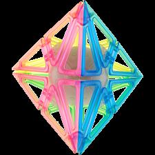 Frame Pyraminx - 4 Color Transparent Glow-in-the-Dark -