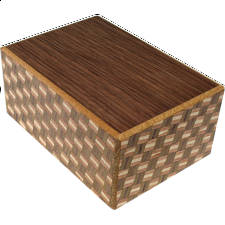 4 Sun 12 Step Natural Wood - Walnut - 4 Sun Puzzle Boxes