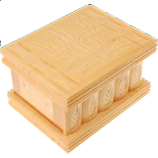 Romanian Puzzle Box - Small Tan - Wood Puzzles