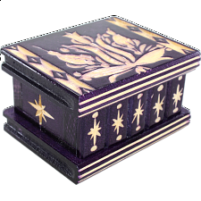 Romanian Puzzle Box - Small Purple - Wood Puzzles