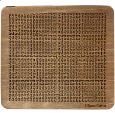 Wooden Fractal Tray Puzzle - Hilbert Curve -