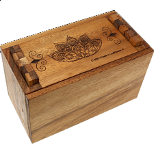 Secret Lock Box - Premium with Mandala Artwork - Other Wood Puzzles