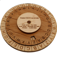 Diana Cryptosystem Cipher - Small - Wood Puzzles