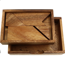 Letter T in Wood Box -