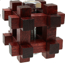 Nut In Lock - Wood Puzzles