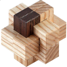 Combined Burr - Other Wood Puzzles