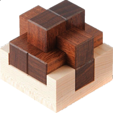 Basket Burr - Wood Puzzles