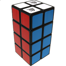 1688Cube 2x2x4 II Cuboid (center-shifted) - Black Body - Other Rotational Puzzles