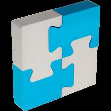4 Piece Metal Puzzle -