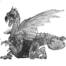 3D Crystal Puzzle Deluxe - Dragon (Black) -