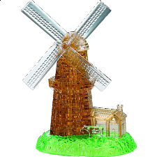 3D Crystal Puzzle Deluxe - Windmill - 3D Crystal Puzzles