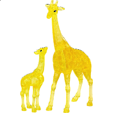 3D Crystal Puzzle - Giraffe & Baby - New Items