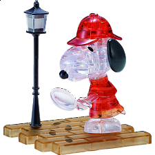3D Crystal Puzzle - Detective Snoopy - 3D Crystal Puzzles