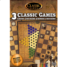 3 in 1 Classic Games: Chess, Checkers, Chinese Checkers - Games & Toys
