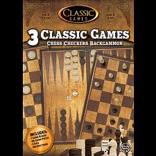 3 in 1 Classic Games: Chess, Checkers, Backgammon -