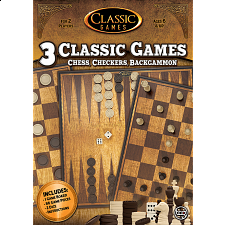 3 in 1 Classic Games: Chess, Checkers, Backgammon - Games & Toys