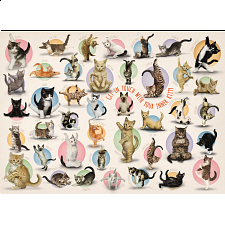 Yoga Kittens - Large Piece Family Puzzle -
