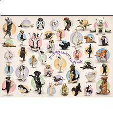 Yoga Puppies - Large Piece Family Puzzle -
