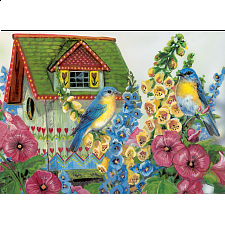 Country Cottage - Large Piece Family Puzzle -