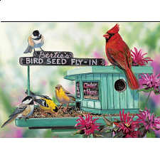 Bertie's Bird Seed Fly-In - Large Piece Family Puzzle -