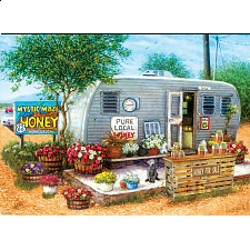 Honey For Sale - Large Piece Jigsaw Puzzle -