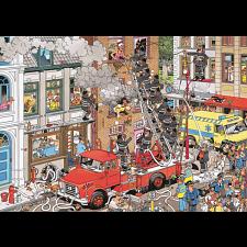 Jan van Haasteren Comic Puzzle - Fire! - Jigsaws
