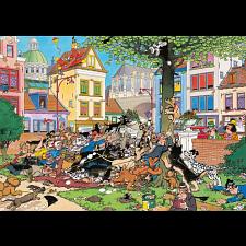 Jan van Haasteren Comic Puzzle - Get That Cat! (1000 Piece) - 1000 Pieces