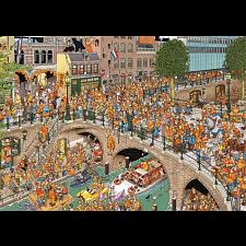 Jan van Haasteren Comic Puzzle - King's Day - 1000 Pieces