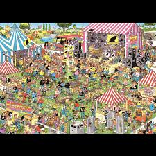 Jan van Haasteren Comic Puzzle - Pop Festival - 1000 Pieces